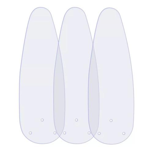 jogo de 3 pás transparente modelo ventilador teto ventisol
