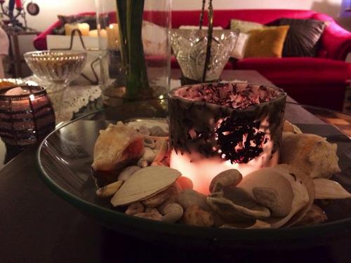 jogo de 4 luminárias de parafina peq. decoradas e perfumadas