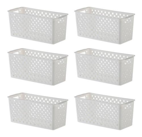 jogo de 6 cestos para organizar quadratta 893