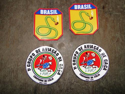 jogo de adesivos, feb, senta a pua, militar, brasil