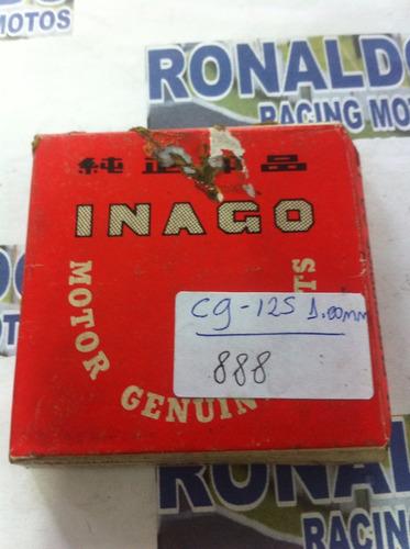 jogo de anel para pistão de cg titan  125cc 1.00mm