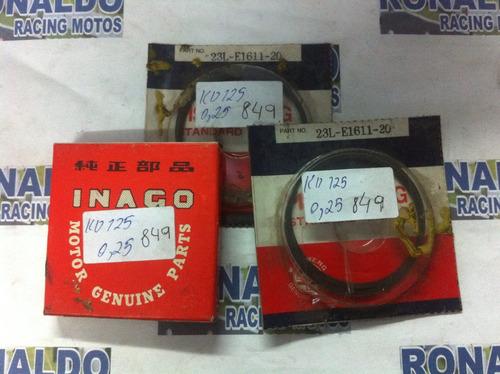 jogo de anel para pistão de rd 125cc medida 0.25m