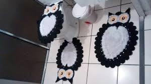 jogo de banheiro de corujinha