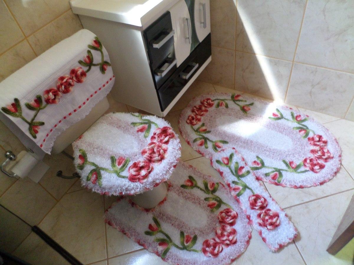 Jogo De Banheiro Amarelo Com Vermelho : Jogo de banheiro harmonia vermelho e branco pe?as r