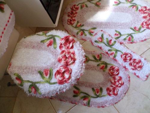 Jogos De Banheiro Vermelho E Branco : Jogo de banheiro harmonia vermelho e branco pe?as r