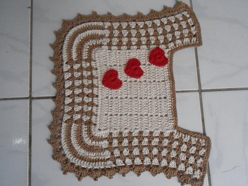 jogo de banheiro,4 peças em crochê,barbante 100 % algodão