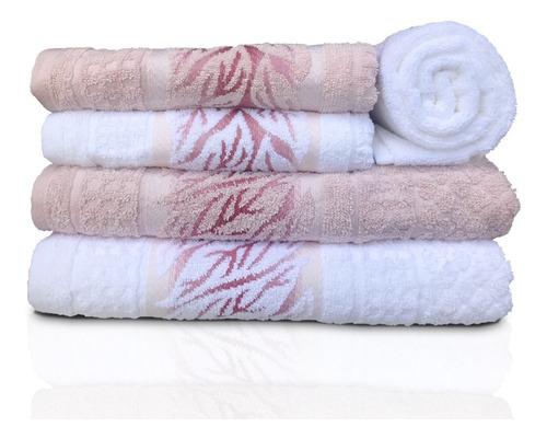 jogo de banho karsten lins 5 peças - branco / rosé