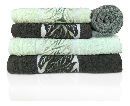 jogo de banho karsten lins 5 peças - verde / selva
