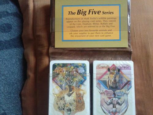jogo de baralho - the big five series - animais!