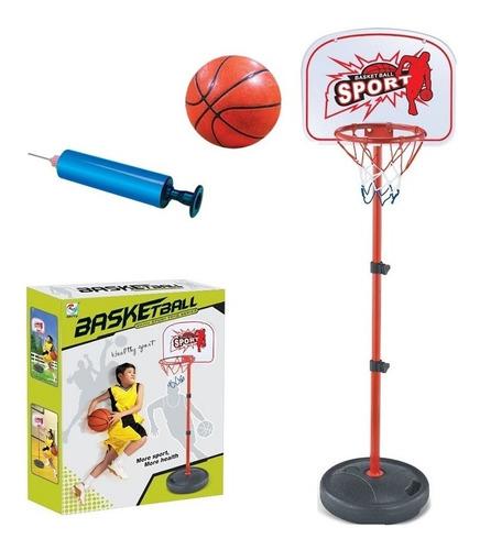 jogo de basquete cesta tabela altura ajustavel, bola e bomba