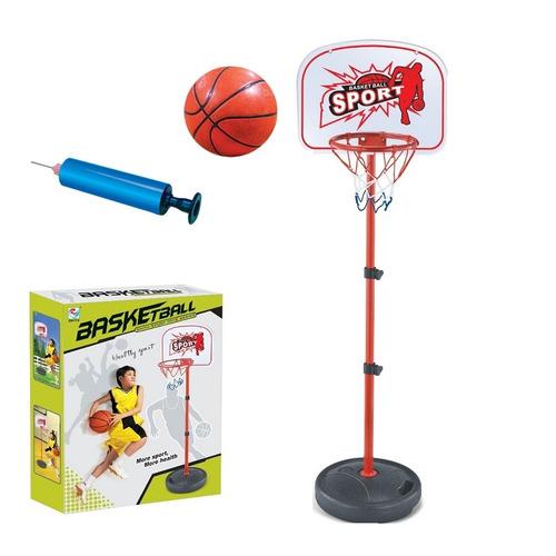 jogo de basquete completa com altura ajustavel, bola e bomba