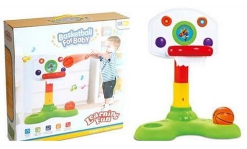 jogo de basquete do bebe educativa infantil cesta luz som