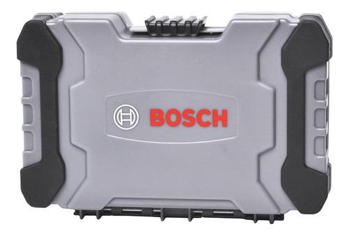 jogo de bits, pontas e soquetes com bosch 43 peças