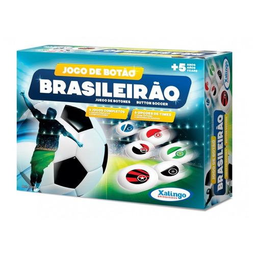 jogo de botão brasileirão em plástico 07209 - xalingo