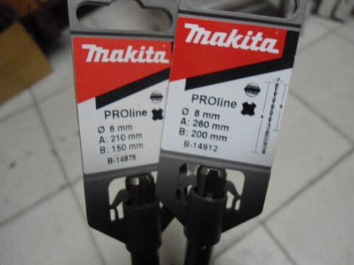 jogo de broca sds plus  makita 6/8/10/12mm