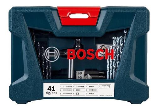 jogo de brocas e bits v-line 41 peças  bosch