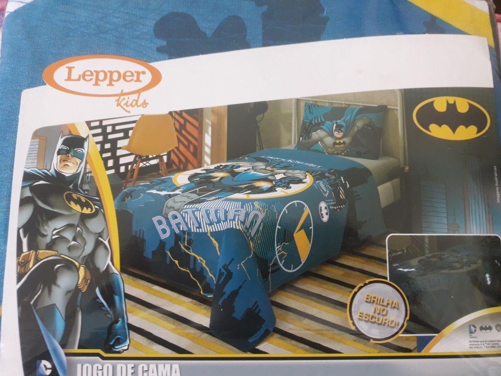 2256fd08d1 Jogo De Cama 3 Peças Batman - Lepper -solteiro - R  140
