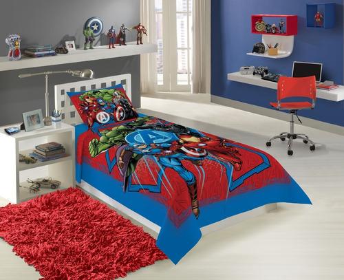 jogo de cama avengers os vingadores 3 peças lepper