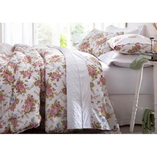 jogo de cama casal 2,20m x 2,50m jullia - malha