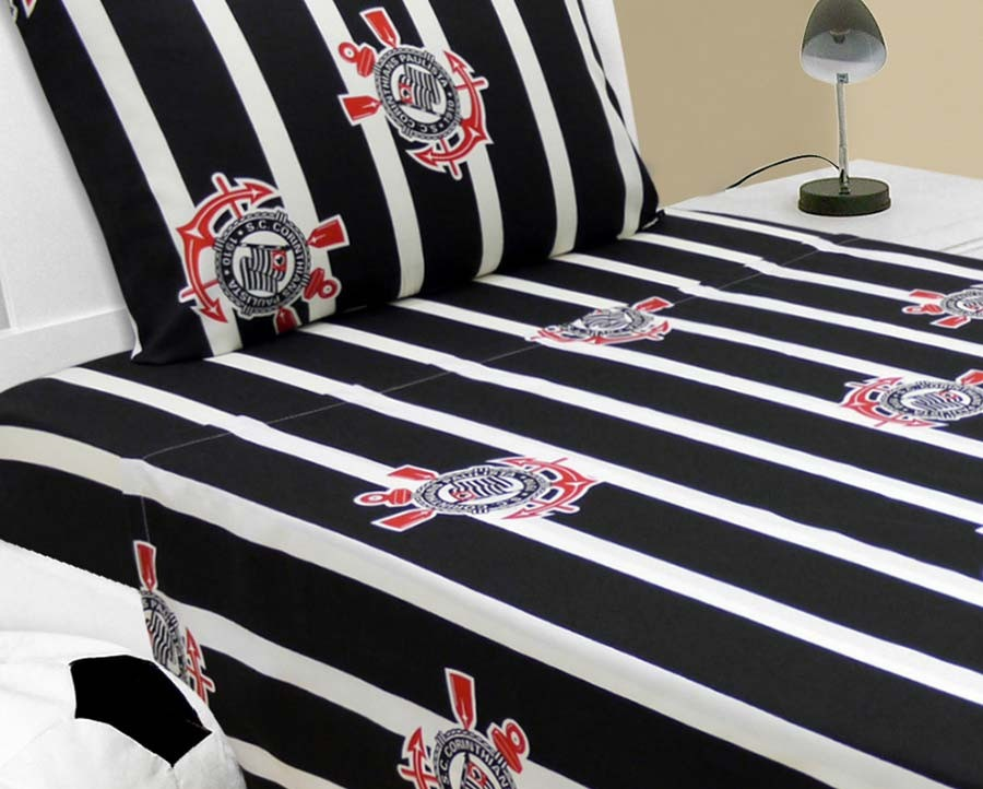 2f19fb9e64 jogo de cama -casal- corinthians produto oficial. Carregando zoom.