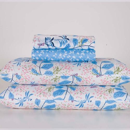 jogo de cama casal lecce microfibra floral pernambucanas