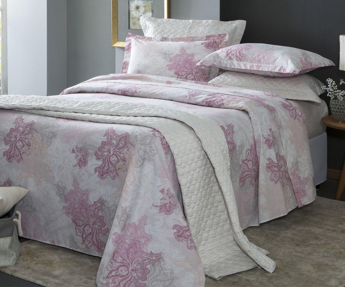 9db9de2acd jogo de cama casal liso rosa 200 fios 4 peças - corttex. Carregando zoom.