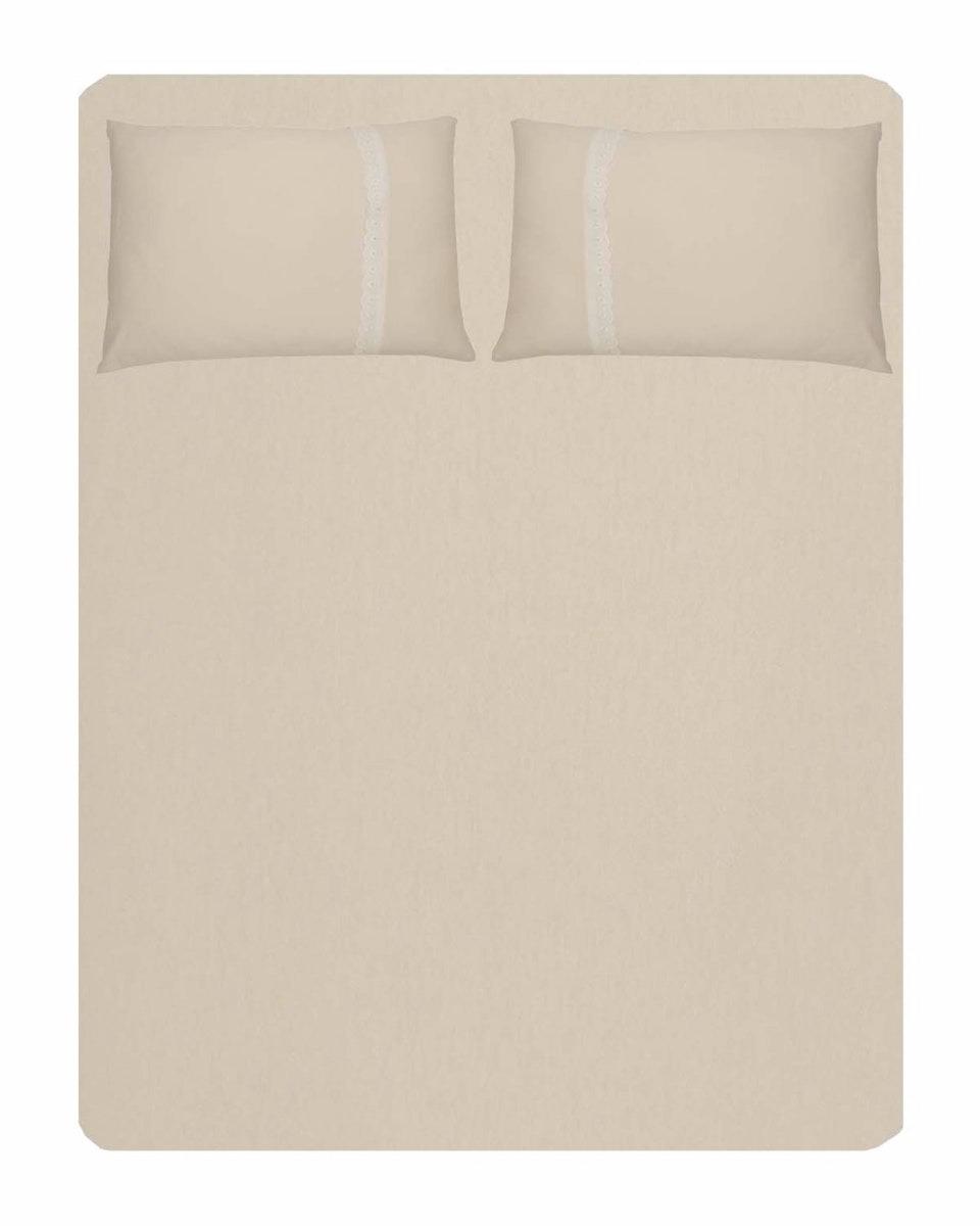 ffa69bcb12 jogo de cama casal malha 100% algodão creme. Carregando zoom.