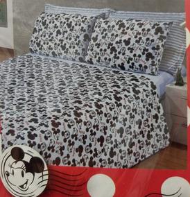 b86a6540e7 Lencol Casal Mickey Mouse no Mercado Livre Brasil