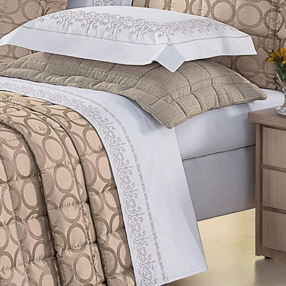 b1f3df1ae1 jogo de cama casal queen fiorella percal 200fios bordado. Carregando zoom.