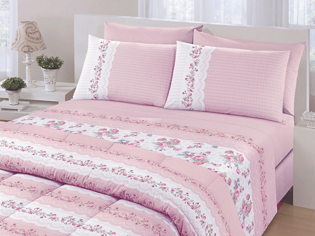 c6ba00f7d9 jogo de cama casal royal plus 100% algodão 4 peças santista. Carregando zoom .