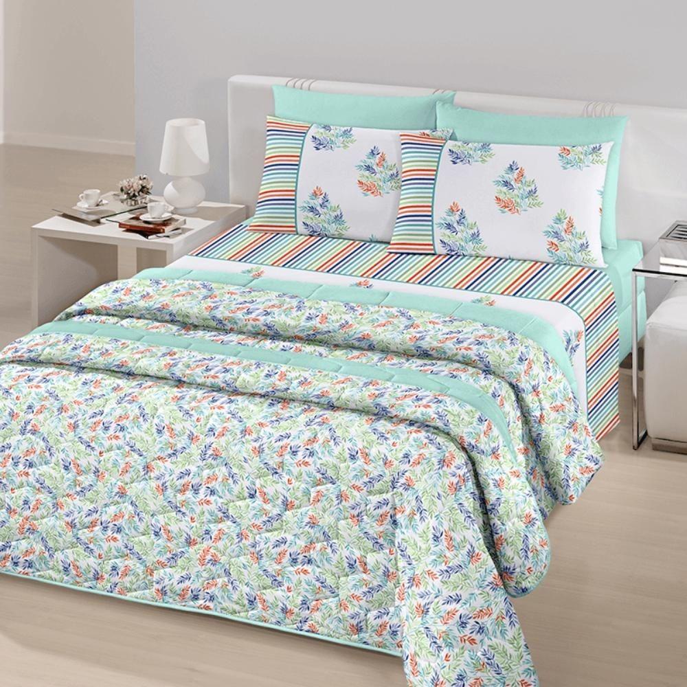 4f1ba6e099 jogo de cama casal royal plus 100% algodão herbal santista. Carregando zoom.