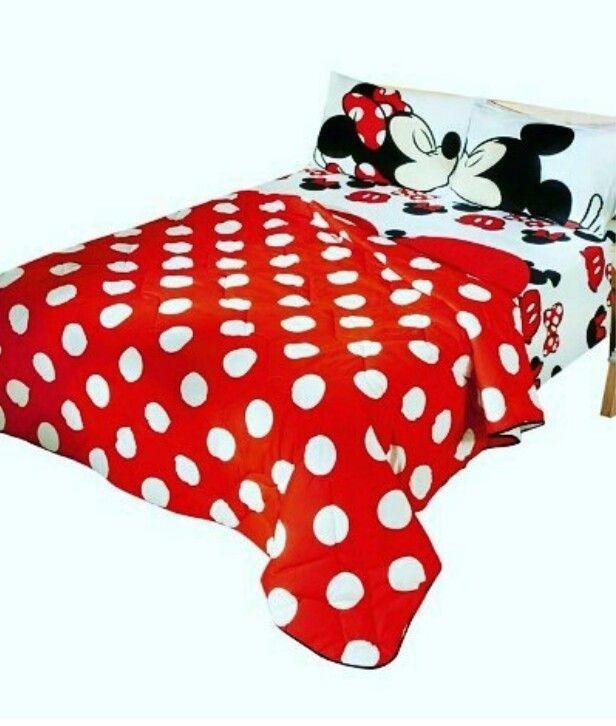 a60cc813fd Jogo De Cama Disney Casal + Edredon Casal Disney  - R  470