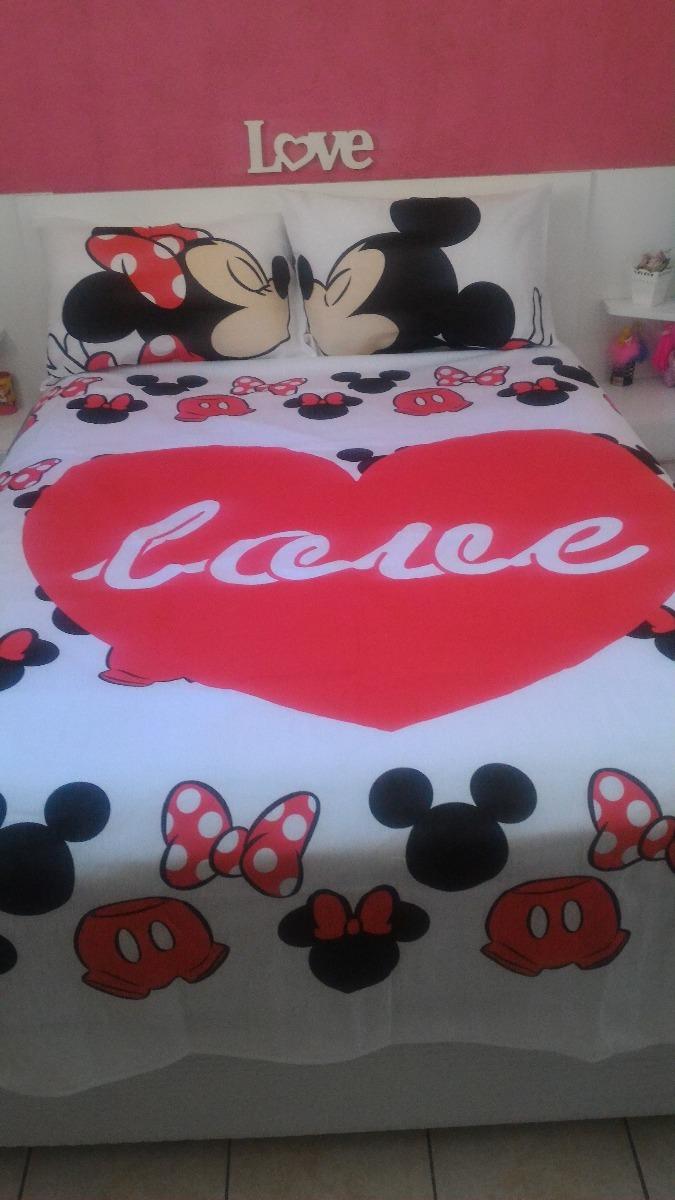 3a04cb6ad5 jogo de cama + edredom casal disney mickey mouse. Carregando zoom.