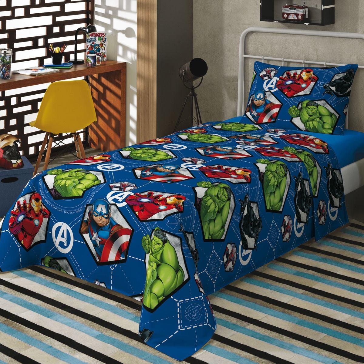 6ee691a72a jogo de cama hulk com 2 peças lepper. Carregando zoom.