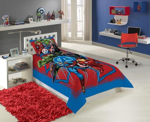 jogo de cama infantil 2 pças lepper lençol solteiro e fronha