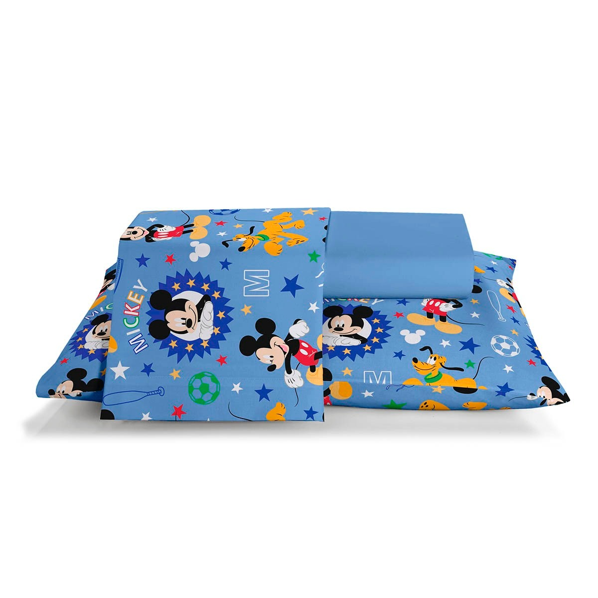 c113ef450a jogo de cama infantil disney mickey happy 3 peças santista. Carregando zoom.