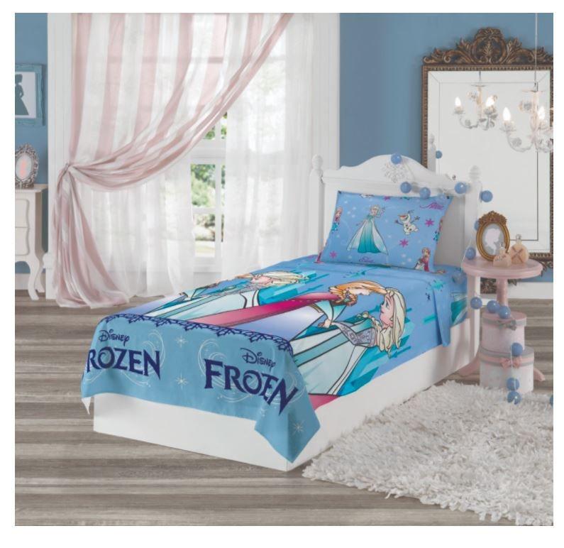 5abba52af8 Jogo De Cama Infantil Frozen 2 Peças Lençol + Fronha Lepper - R  52 ...