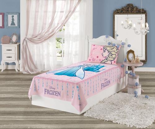 jogo de cama infantil frozen 2 peças lepper