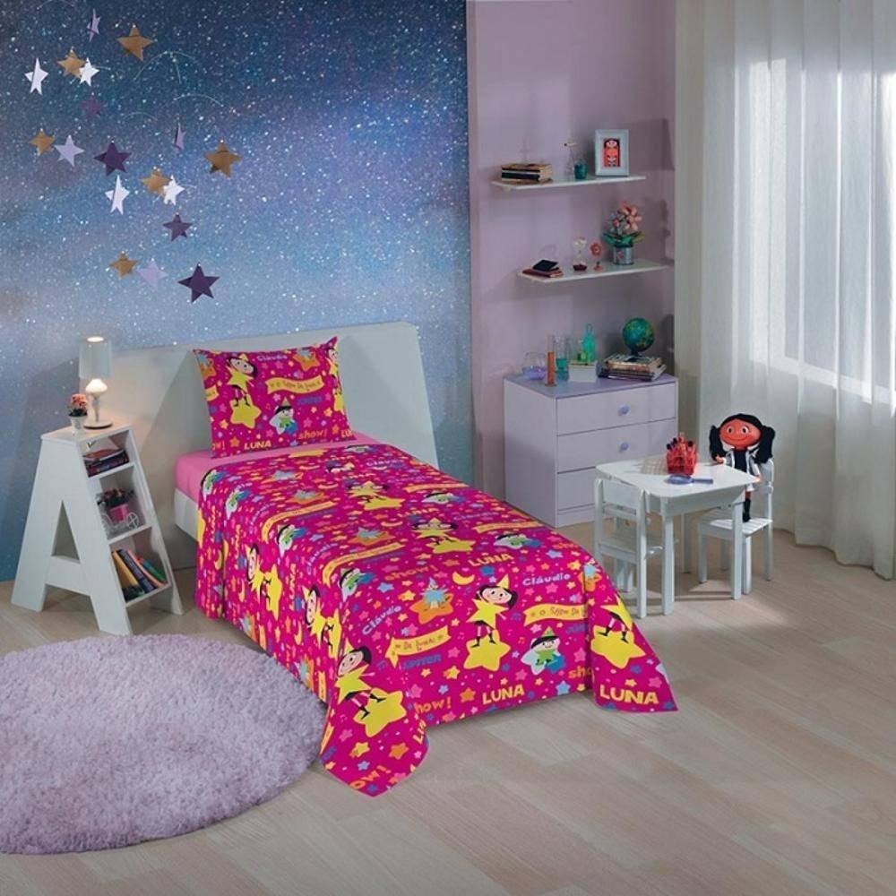1e7626f5f jogo de cama infantil o show da luna 3 peças lepper. Carregando zoom.