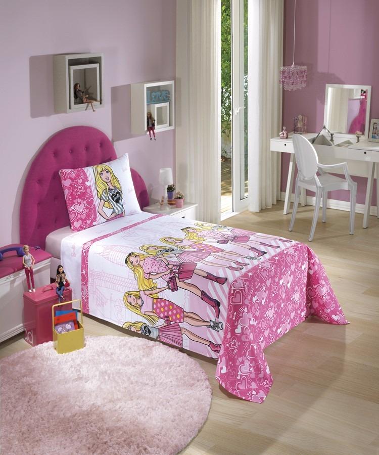 e81918dc5a jogo de cama infantil personagens barbie 3pç. Carregando zoom.