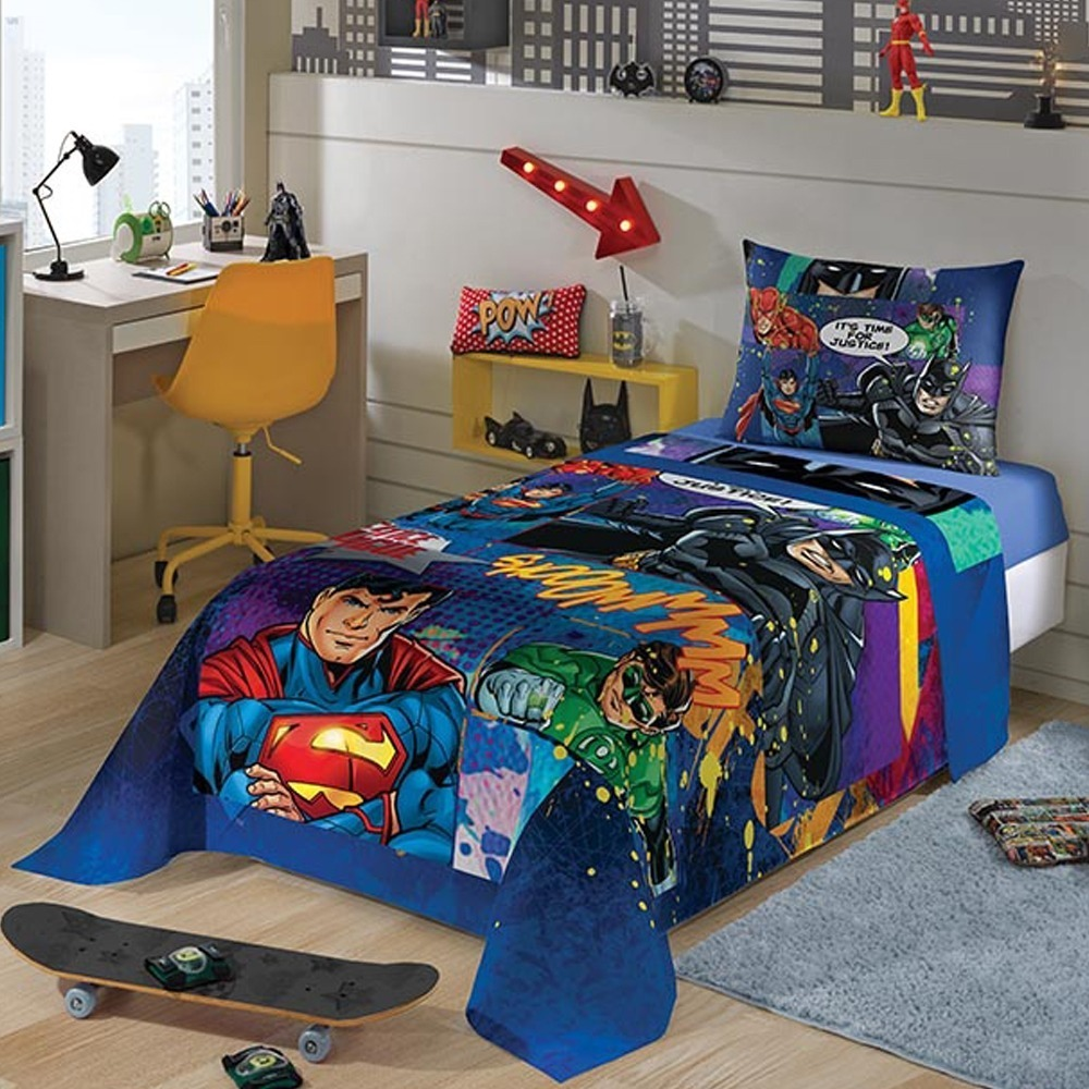 2f22e9a0ab 4 jogo de cama infantil solteiro vários personagens promoção. Carregando  zoom.