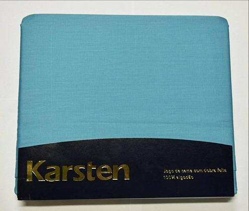 jogo de cama karsten 300 fios sortido azul king 290 x 270 cm
