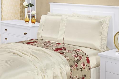 jogo de cama king lençol pérola toque de seda frete grátis