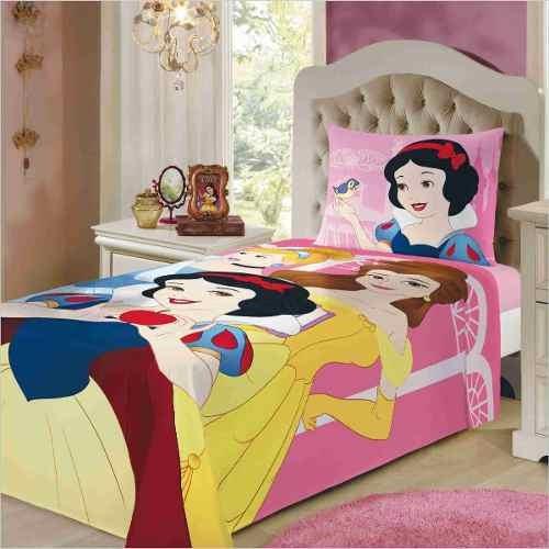be1f1a5be2 Jogo De Cama Lençol 2 Pçs Infantil 150 Fios Princesas Disney - R  79 ...