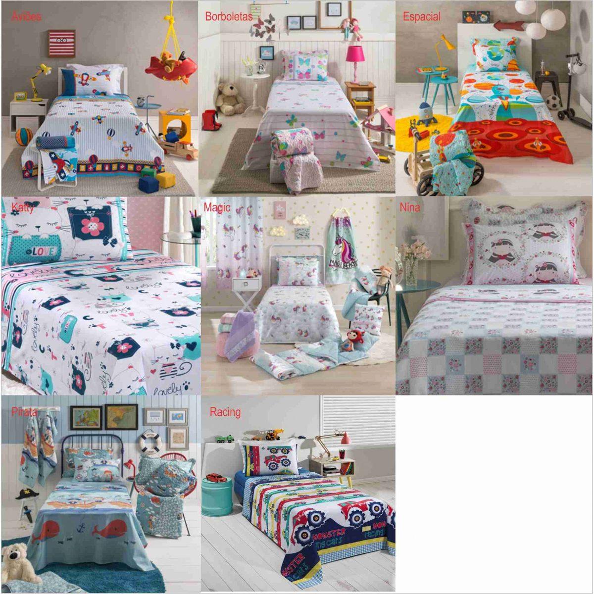 82005ce7d2 jogo de cama lençol infantil 100% algodão 130 fios santista. Carregando  zoom.