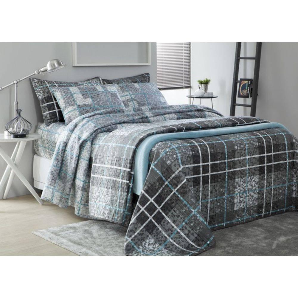 2ec216f779 jogo de cama lençol solteiro 150 fios benicio cinza corttex . Carregando  zoom.