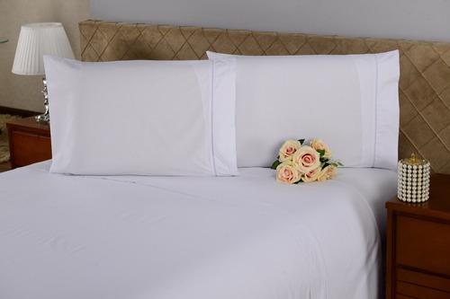 jogo de cama lençol solteiro 3 peças 120 fios hotel pousada