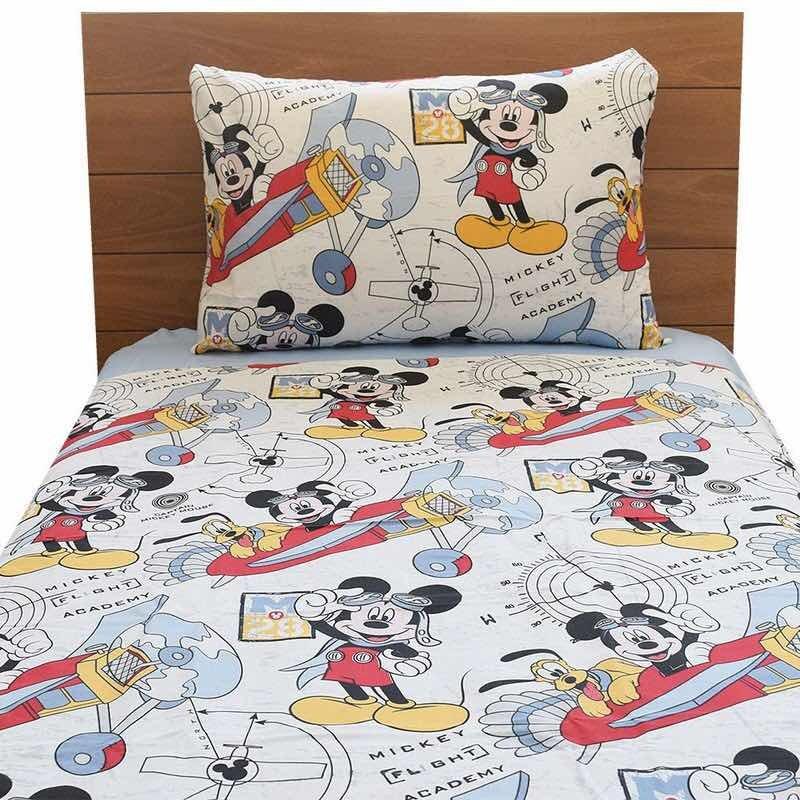 9fda375598 Jogo De Cama Santista Disney Mickey 3 Pcs Solteiro - R  74