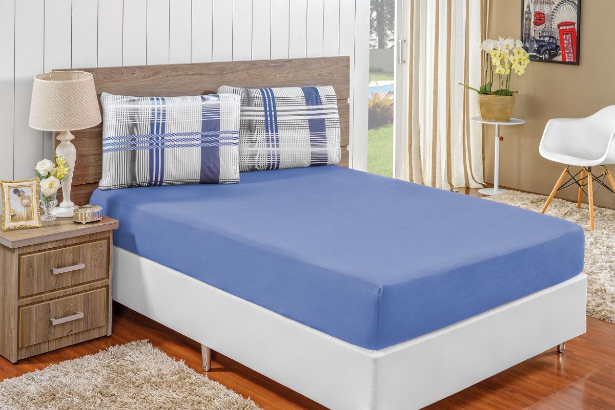 1cbec1a4a5 jogo de cama simples quality malha solteiro - 02 pç. Carregando zoom.