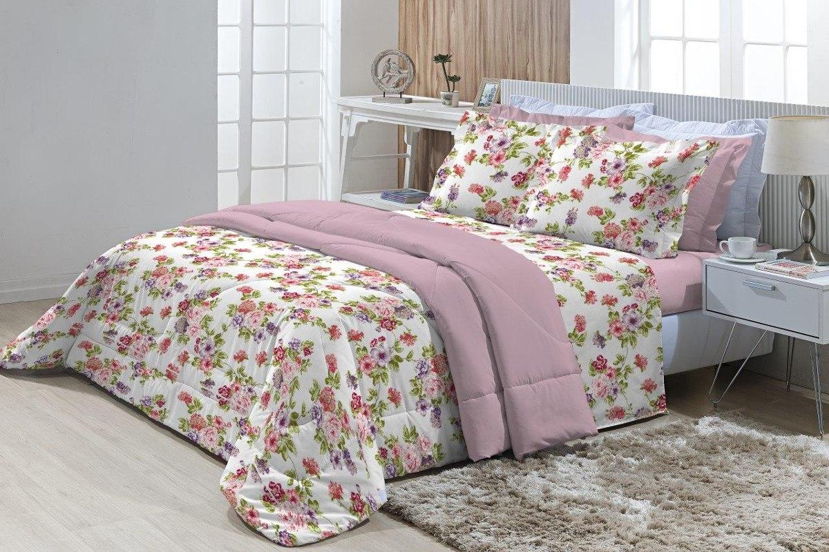 56f06748e1 jogo de cama solteiro 180 fios innovare clara 3 peças textil. Carregando  zoom.